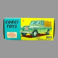 Vintage Corgi Toys Land Rover #438 with Box, 1968!