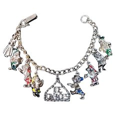 Snow White & The 7 Dwarfs Ice Capades Charm Bracelet