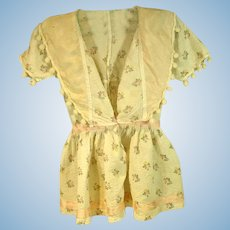 Vintage 1940's Doll Dress, Unique Styling