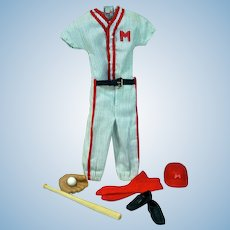 VIntage Mattel Ken Outfit, Play Ball, 1963