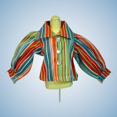 Vintage Rayon Doll Blouse, 1950's