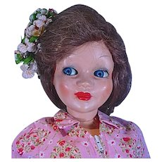 "Vintage Ottolini Italian Fashion Doll with Molded High Heels, 25"""
