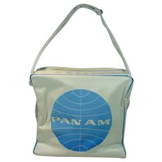 Authentic Pan Am Shoulder Tote Bag from the 1960's