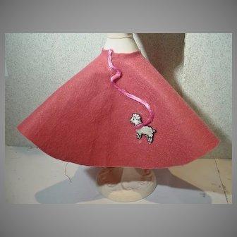 """Vintage Poodle Skirt for 11 1/2"""" Fashion Doll, 1960's"""