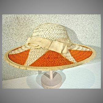 Vintage 1950's Ladies Sun Hat Salesman's Sample Perfect for a Doll