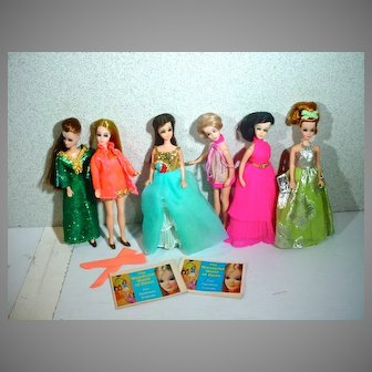 Vintage 1970's Topper Dawn & Friends Collection