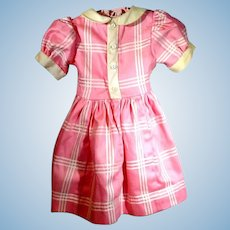 Charming Pink and White Cotton Doll Dress, 1950's