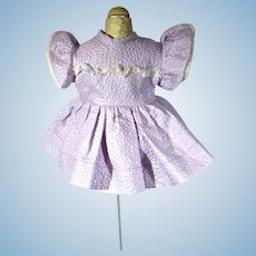 Cute Lavender Cotton Pique Doll Dress, 1950's