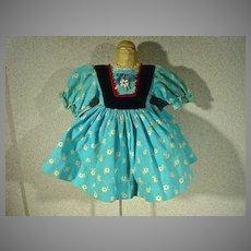 Tagged Madame Alexander Jenny Lind Doll Dress, 1960's