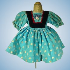 Tagged Madame Alexander Jenny Lind Doll Dress, 1960's