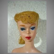 Vintage Mattel 1961 Blond Ponytail Barbie