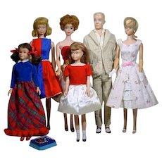 Vintage, 1960's Barbie & Friends Dolls, Mattel