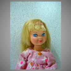 Vintage 1967 Blond Tutti Doll in Birthday Beauties, Mattel