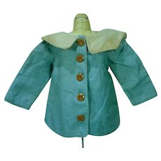 Vintage Silk and Linen Doll Jacket, 1940's