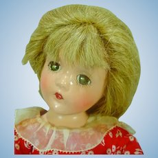 "1940's Madame Alexander 13"" Compo Wendy Ann Doll"