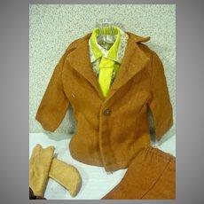 Vintage Mattel Ken Outfit, Brown On Brown, 1972