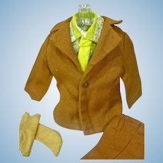 Vintage Mattel Ken Outfit, Brown On Brown, 1972