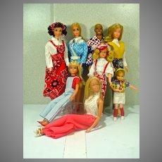 Vintage Mattel Barbie & Friends Dolls, 1970's!