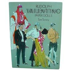 Vintage Tom Tierney Rudolph Valentino Paper Dolls, 1979, Un-Cut!