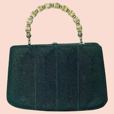Unusual E/W Corde` Bag Circa 1940's