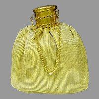 1960's Gold Lame` Misers Evening Purse