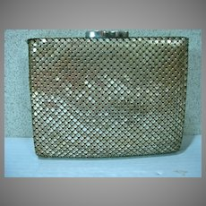 Whiting and Davis Sliver Tone Mesh Wallet/ Purse Circa 1950's