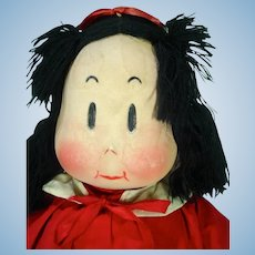 VIntage Little Lulu Cloth Doll, 1944, Georgene w/Tag