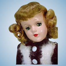 Beautiful 1950's H.P. Mary Hoyer Doll in Knit Outfit