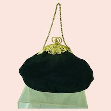 Lovely, Black Taffeta Evening Purse