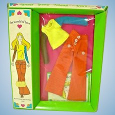 Hasbro The World of Love Buttons 'N Stripes NRFB Outfit, 1971