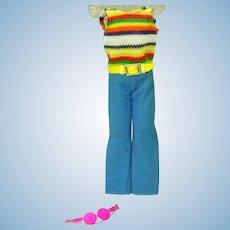 VIntage Mattel Skipper Outfit Summer Slacks, 1970