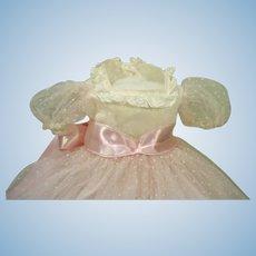 Vintage Madame Alexander Elise Long Party Dress & Slip, 1957