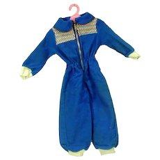 Vintage 1950's Doll Ski Suit, Adorable!