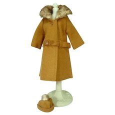 Vintage Mattel Barbie Outfit, It's Cold Outside, Brown, 1964