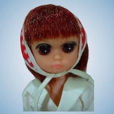 """Vintage 9 1/2"""" Big Eyed Doll, Keane Era, 1960's, Hong Kong"""
