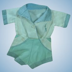 Vintage 1950's Baby Boy Doll Suit, Adorable!