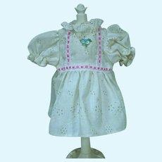 Vintage 1980's Cotton Eyelet Doll Dress