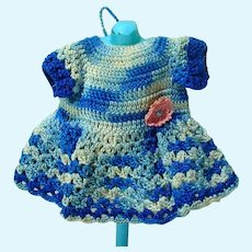 Hand Made Vintage 1930's Crocheted Doll Dress