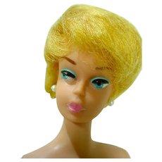 VIntage 1962 Light Blond Pink Lipped Barbie Bubble Cut, Mattel