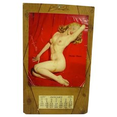 Vintage Marilyn Monroe Famous Golden Dreams Calendar, 1953