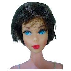Vintage Mattel Brunette Hair Fair Barbie, 1969 w/ Accessories