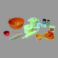Vintage, Dollhouse Cooking/Baking Miniatures