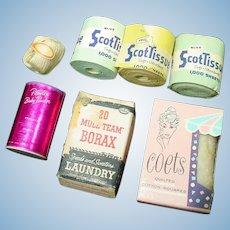 Vintage Dollhouse Bathroom Accessories