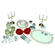 Vintage, Dollhouse Table wear and Serving Accessories