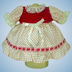 Lovely Vintage Doll Party Dress, 1970's