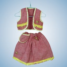 Vintage 1950's Doll Cowgirl Outfit