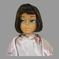 Mattel Brunette American Girl Barbie, 1965 in Slumber Party