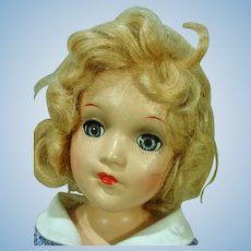 Beautiful Vintage Composition Mary Hoyer Doll in Tagged Dress, 1940's