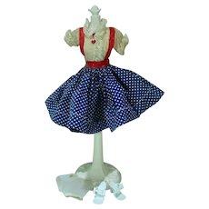 """Vintage 10 1/2"""" Miss Nancy Ann Fashion Doll Outfit, 1958"""