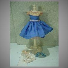 Vintage Ideal Little Miss Revlon Blue Jumper Outfit #9119, 1950's